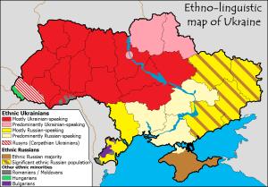 mapa linguistico de Ucrania