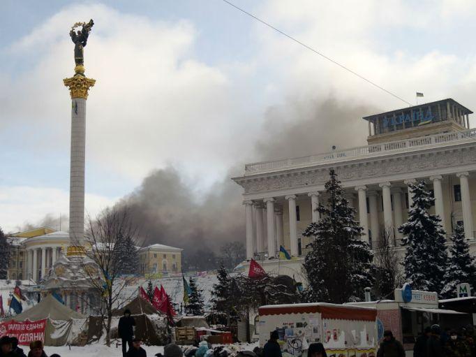 plaza de Kiev destrozada