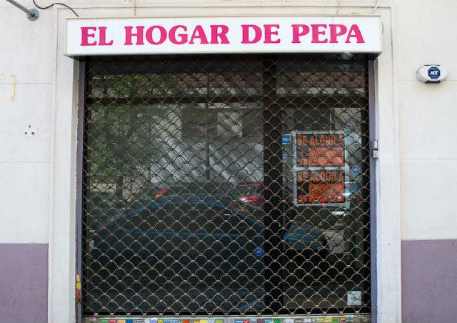Comercio local cerrado