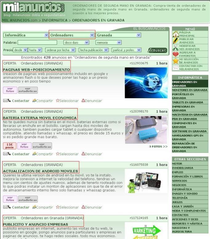 ordenadores Milanuncios